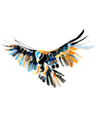 Art by LJD Flying Golden Eagle 30 by 40 Inch Print