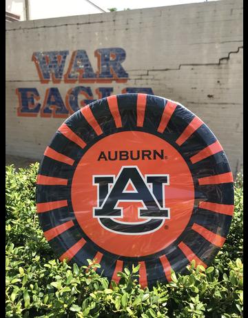 "Havercamp Auburn 9"" Round Paper Plates - 8 Pack"