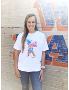 The Local Market 100% MADE IN THE USA Watercolor Aubie Flag T-Shirt