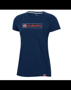 Under Armour F20 Womens AU Auburn Boxed Sideline T-Shirt - P-54176