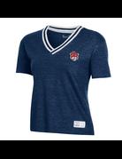Under Armour F20 Aubie Womens V-Neck Gameday Ringer T-Shirt