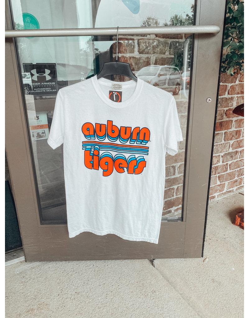 Image One Bubble Auburn Tigers Retro Stripe T-Shirt