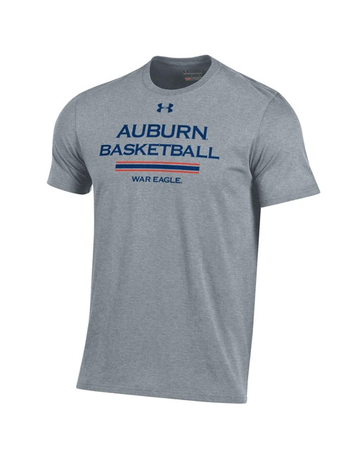 Under Armour Auburn Basketball War Eagle Stripe Bi-Blend T-Shirt