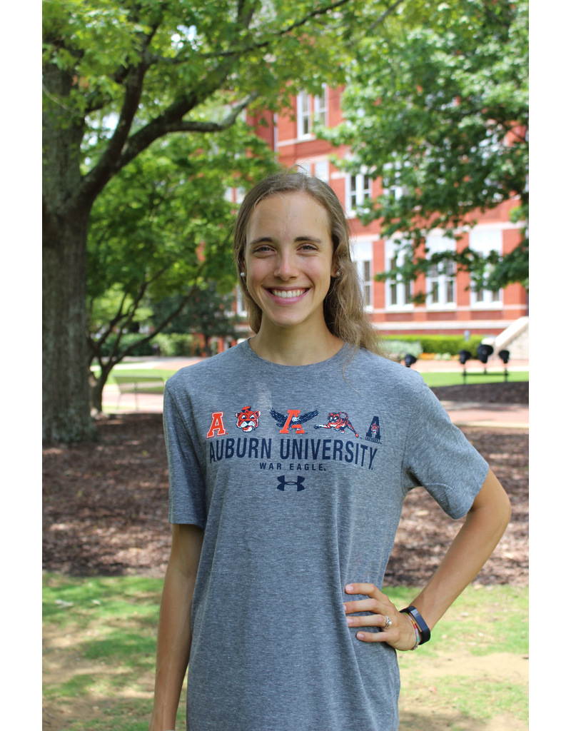 Under Armour Vault Logos over Auburn University over War Eagle T-Shirt