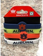 Aminco Auburn 4 pack Silicon Bracelets