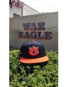New Era AU Two Tone Tiger Eyes on Side Flatbill Snapback Hat