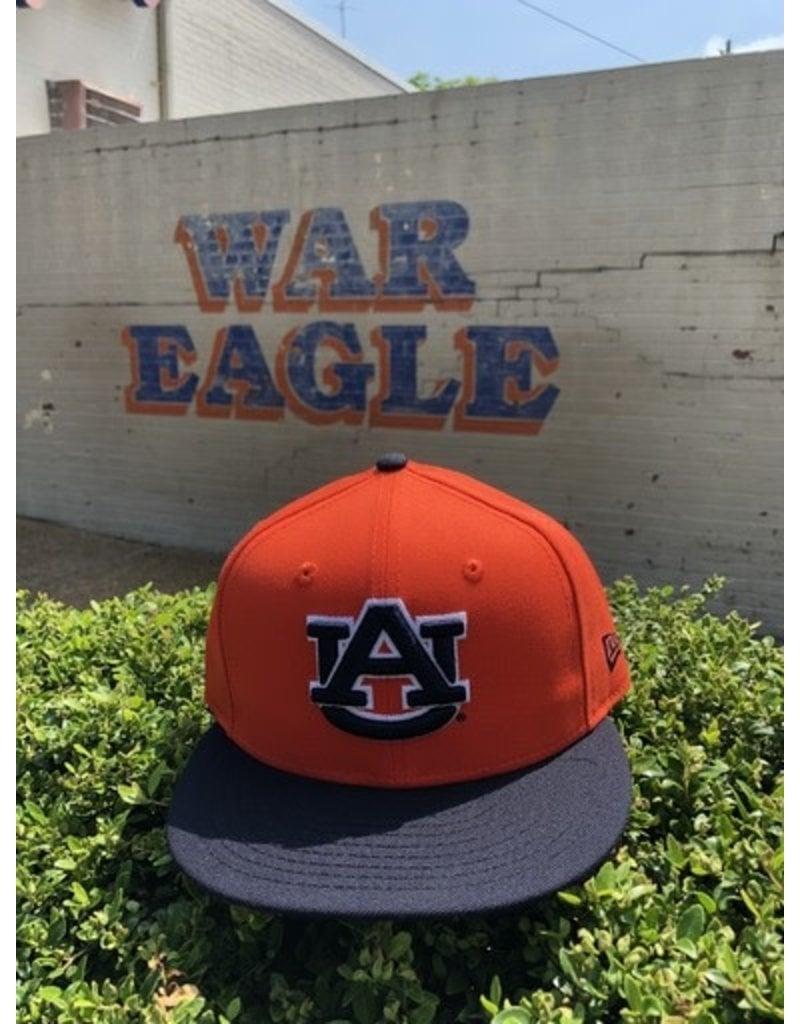 New Era AU Orange/Navy Two Tone Tigers on Back Flatbill Snapback Hat
