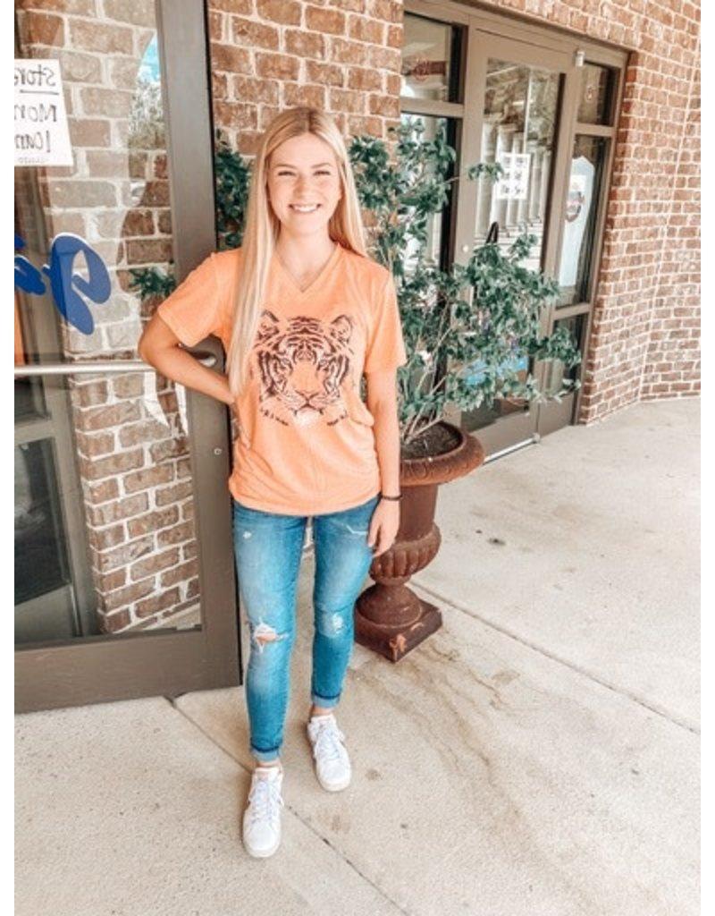 Stewart Simmons V-Neck Tonal Tiger T-Shirt