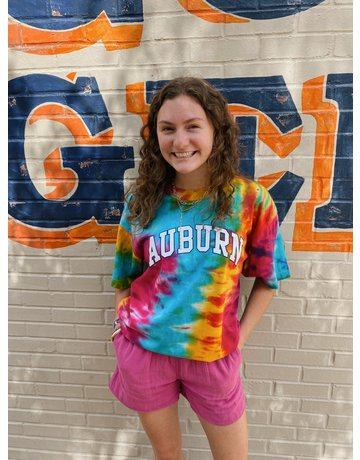 MV Sport Crazy Tie Dye Arch Auburn T-Shirt