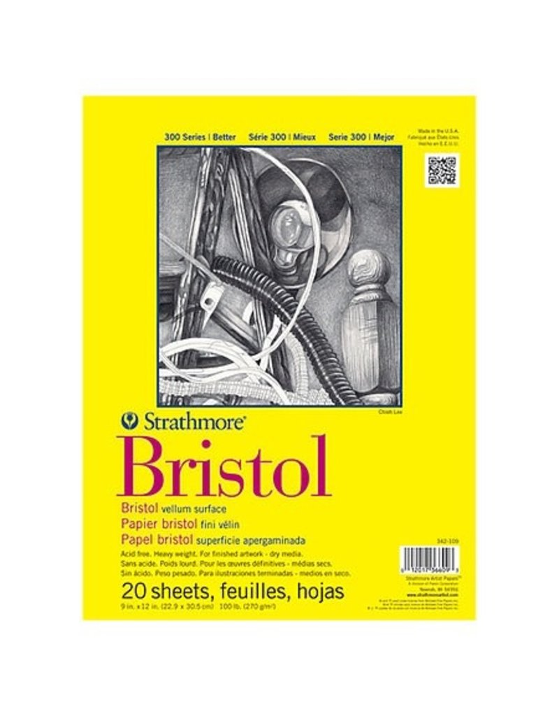 MacPherson Bristol Paper Pad 300 Series 11x14 20sheets/pad Vellum Surface