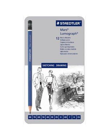 Staedtler Mars Pencil Set Sketching/Drawing 12CT