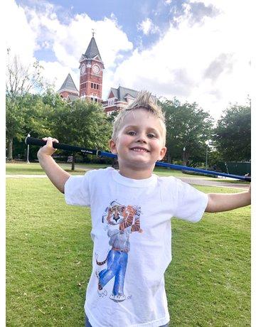 MV Sport Golfing Aubie Watercolor Youth T-Shirt