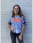Pressbox Block Auburn Bleach Washed Waist-Length T-Shirt