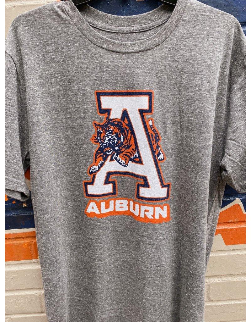 Blue 84 Tiger Thru A over Auburn Triblend T-Shirt