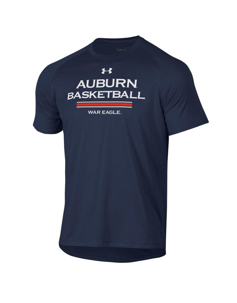 Under Armour Auburn Basketball Three Bar War Eagle Tech T-Shirt