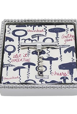 Mariposa Corkscrew Beaded Cocktail Napkin Box