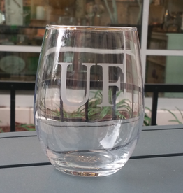 UF Engraved Stemless Wine Glass