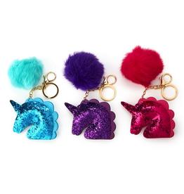 Unicorn Glitter Keychain