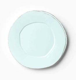 Vietri Lastra European Dinner Plate - Aqua