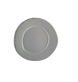 Vietri Lastra European Dinner Plate - Gray