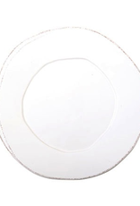 Vietri Lastra European Dinner Plate - White