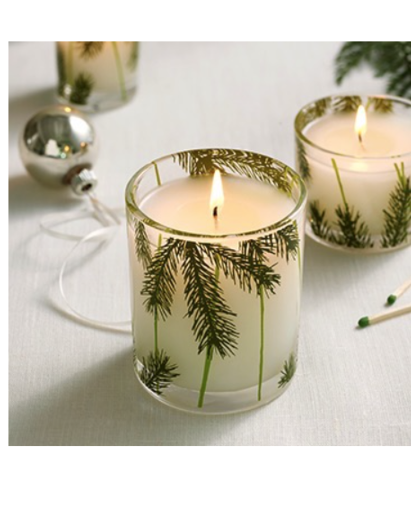 Thymes Frasier Fir Poured Pine Needle Design Candle - 6.5 oz