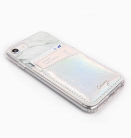 Phone Pocket Card Holder - Iridescent