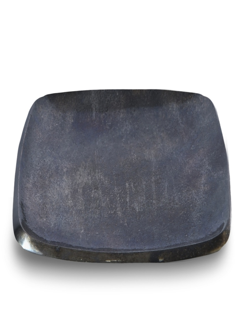 """Eclipse 6"""" Stackable Square Tray -  Steel Blue"""