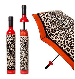 Vinrella Leopard Wine Bottle Umbrella