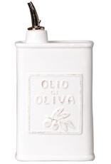 Vietri Lastra Olive Oil Can - White