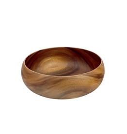 """Round Acacia Wood Bowl  - 16""""D"""