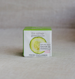 The Cottage Greenhouse Cucumber French Soap Bar