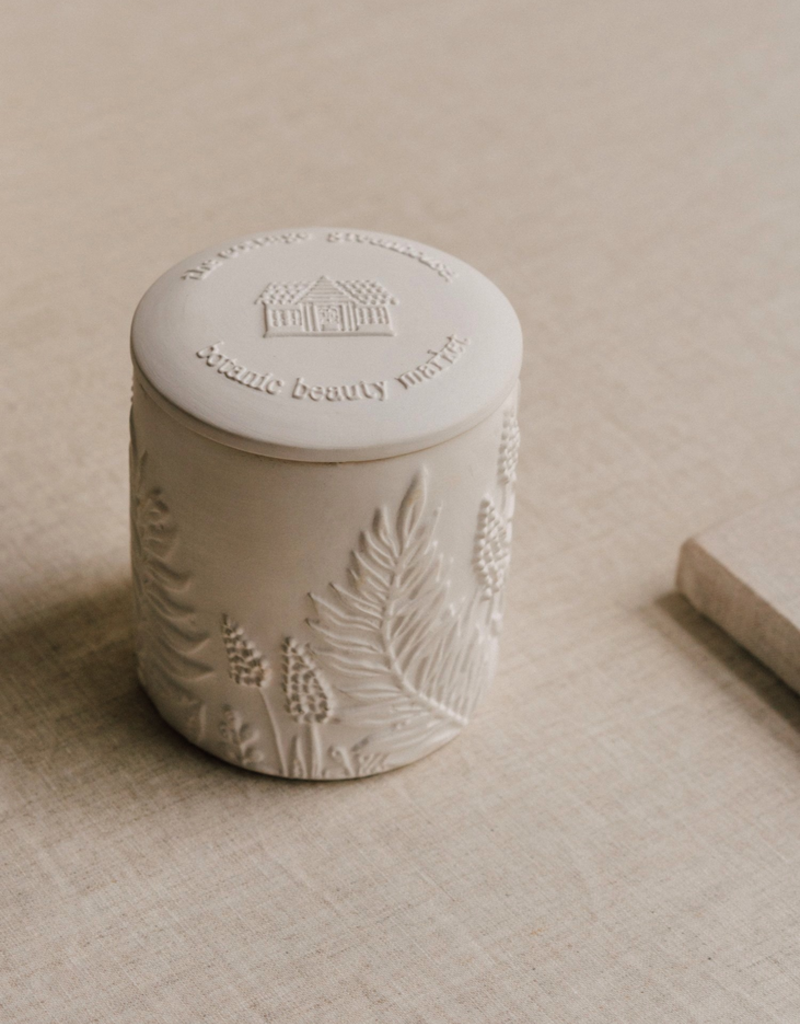 The Cottage Greenhouse Rosemary Mint Ceramic Candle - Restoring