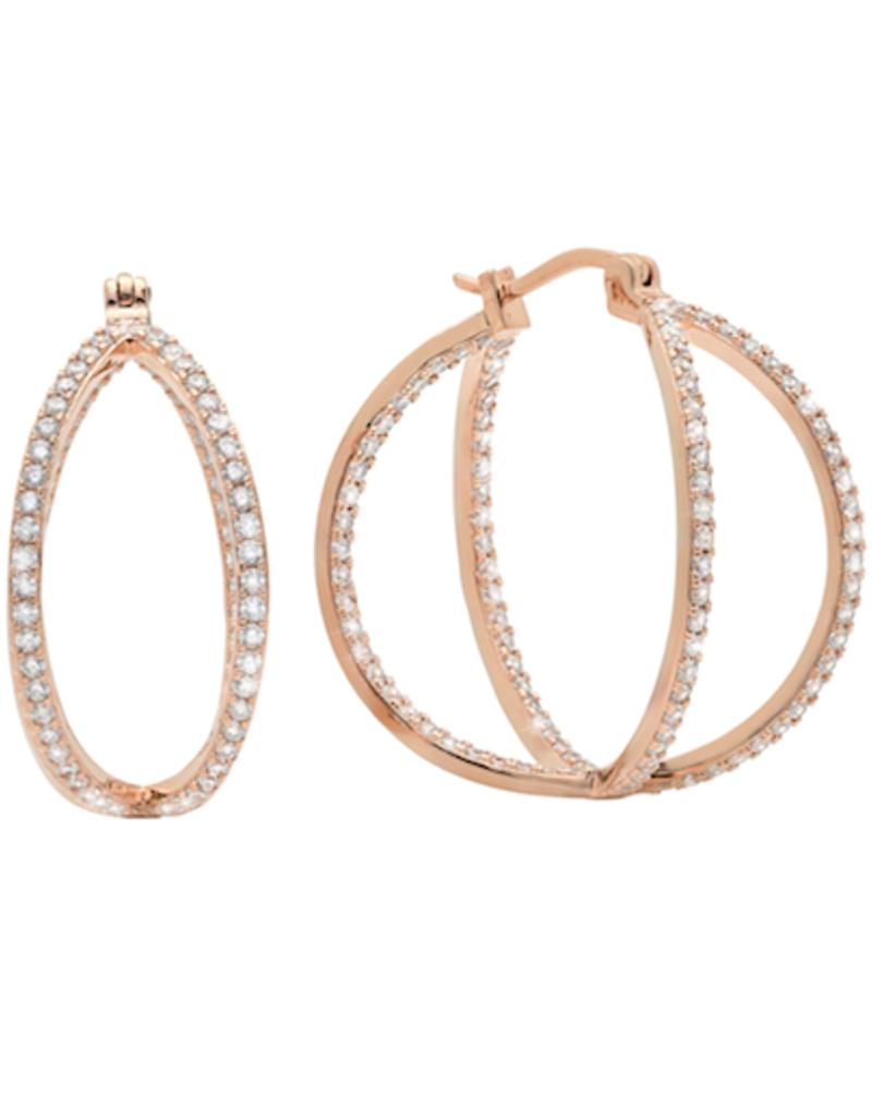 Crislu Criss Cross Hoop Earrings - Large