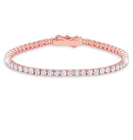 """Crislu Classic Medium Round Brilliant Tennis Bracelet - 7"""""""