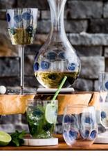 Vietri Drop Wine Glass - Blue