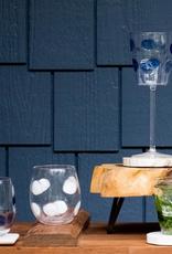 Vietri Drop Stemless Wine Glass - Blue
