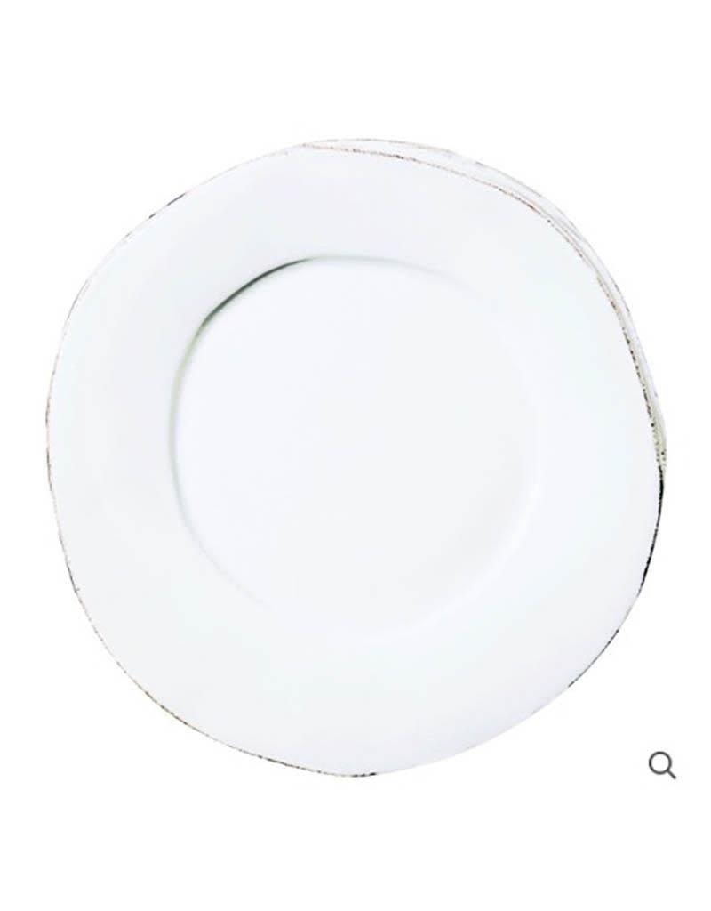 Vietri Melamine Lastra Dinner Plate - White