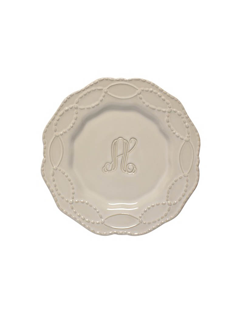 Skyros Legado Engraved Salad Plate - Pebble