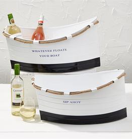 Ship Ahoy! White Boat Ice Bucket - Small