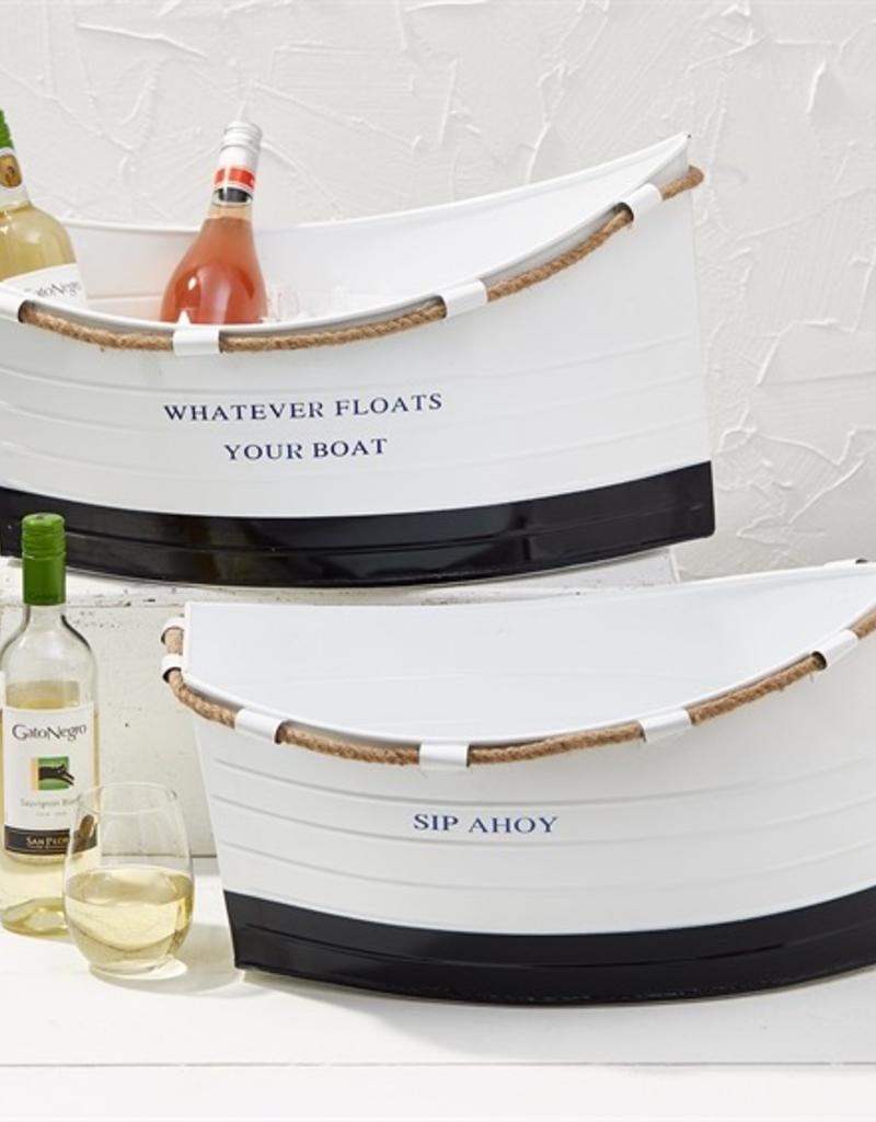 Ship Ahoy! White Boat Ice Bucket - Large