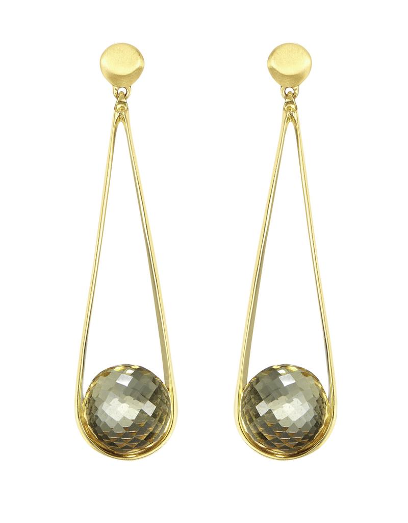 Citrine Ipanema Earrings - Gold