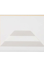 Sugar Paper Gray Stripe Envelope Note Set