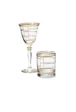 Vietri Elegante Wine Glasses - Grid - Discontinued