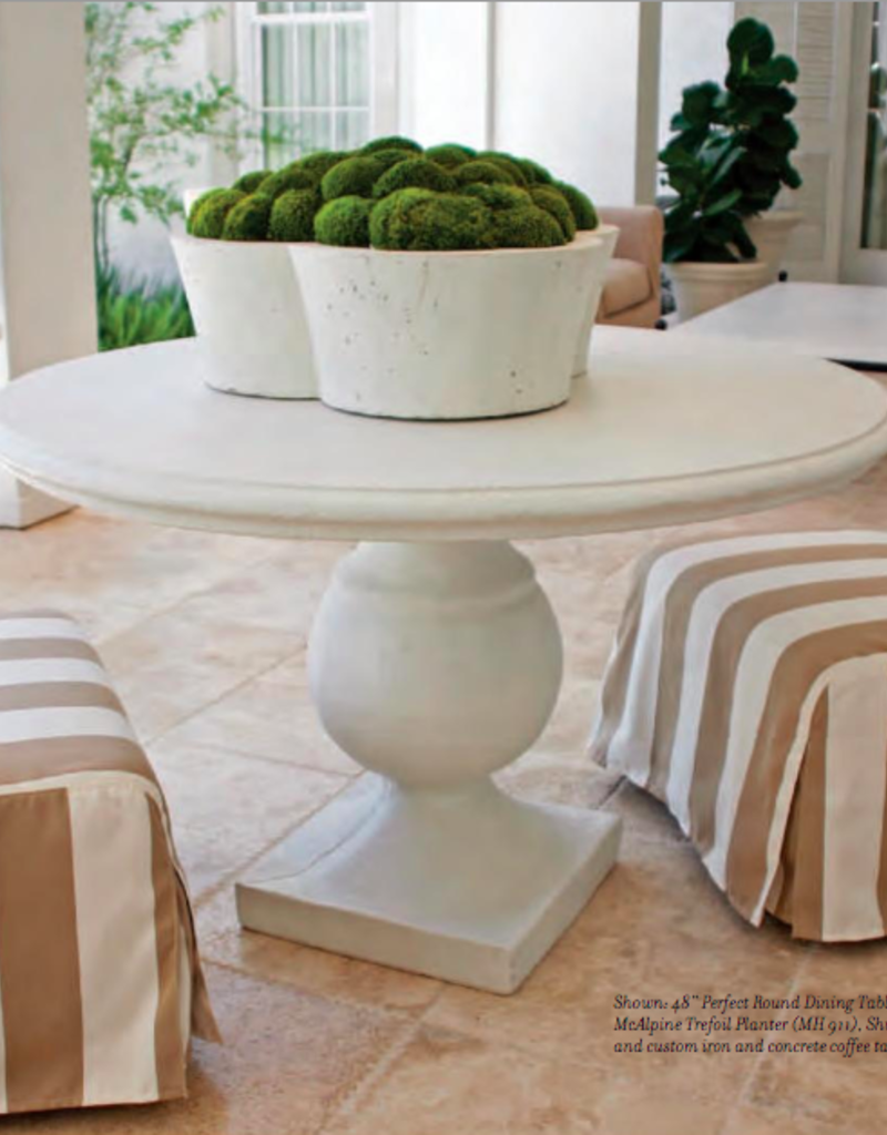 """Elegant Earth Perfect Round Dining Table - Rottenstone Finish - 48"""""""