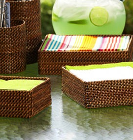 Calaisio Woven Reed Cocktail Napkin Holder - 5.5''S x 2.25''H