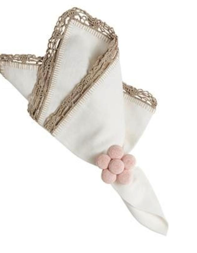 Juliska Petticoat Napkin -White/Flax