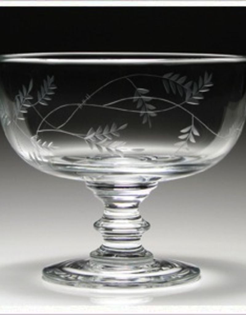 """William Yeoward Crystal Wisteria Footed Rose Bowl  - 8.5"""""""