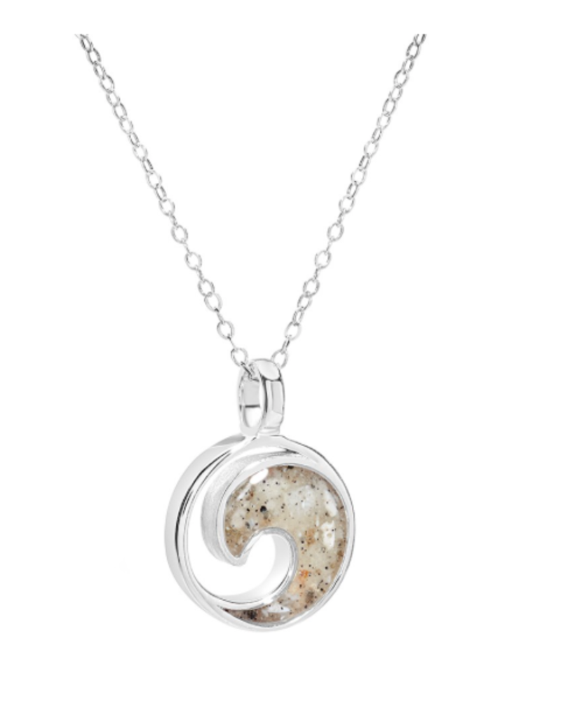 Dune Jewelry Sterling Wave Necklace - Cape Canaveral Florida