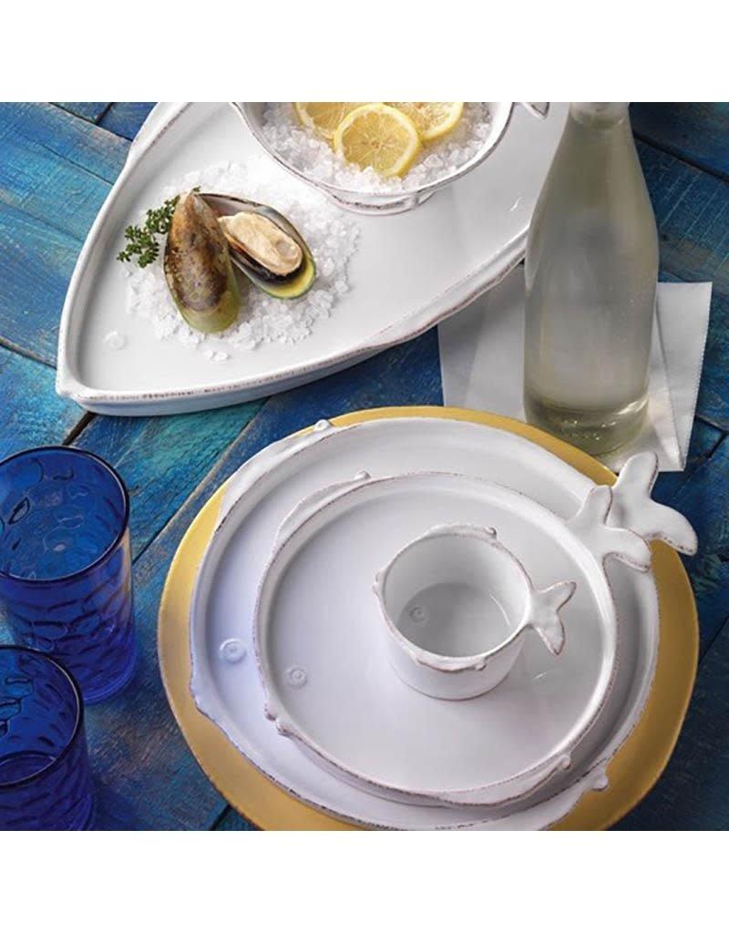Vietri Lastra Fish Canape Plate